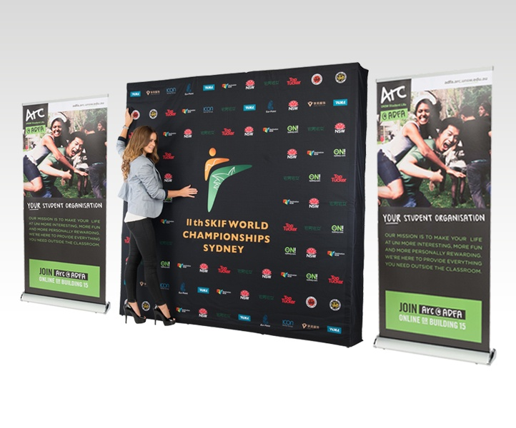 Fabric Exhibition Stand Zones : Exhibition stands trade show displays easy signs