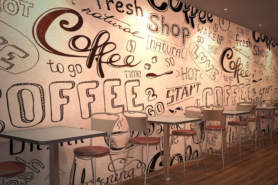 Wall Mural for the Cafe
