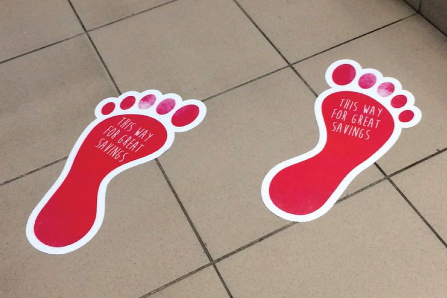 Custom Printed and Cut Floor Sticker