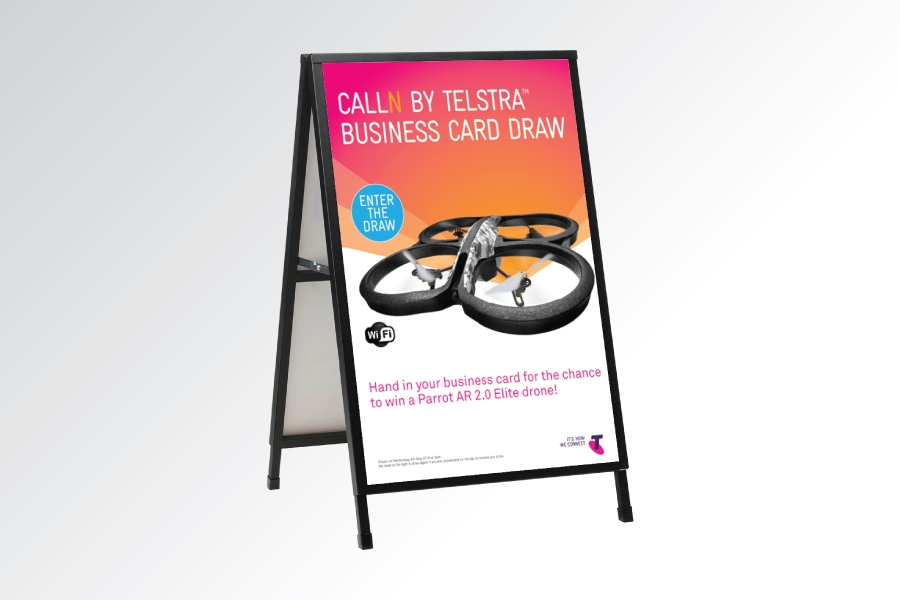 Signflute™ Insertable Frame Sandwich Board - Sign Frames - Easy Signs
