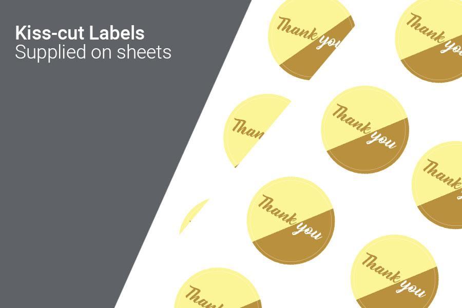 Kiss-cut Labels