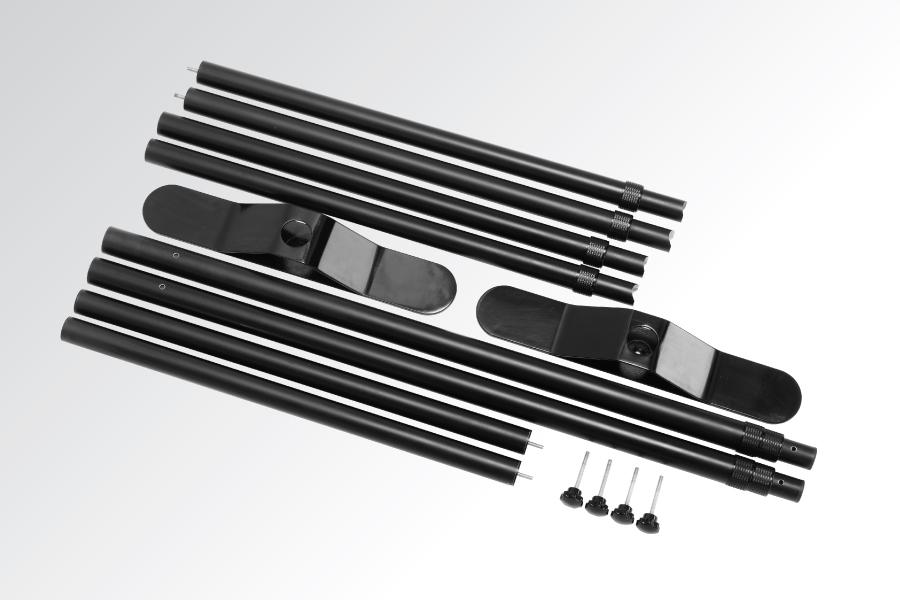Full Colour Adjustable Media Wall Pole Set