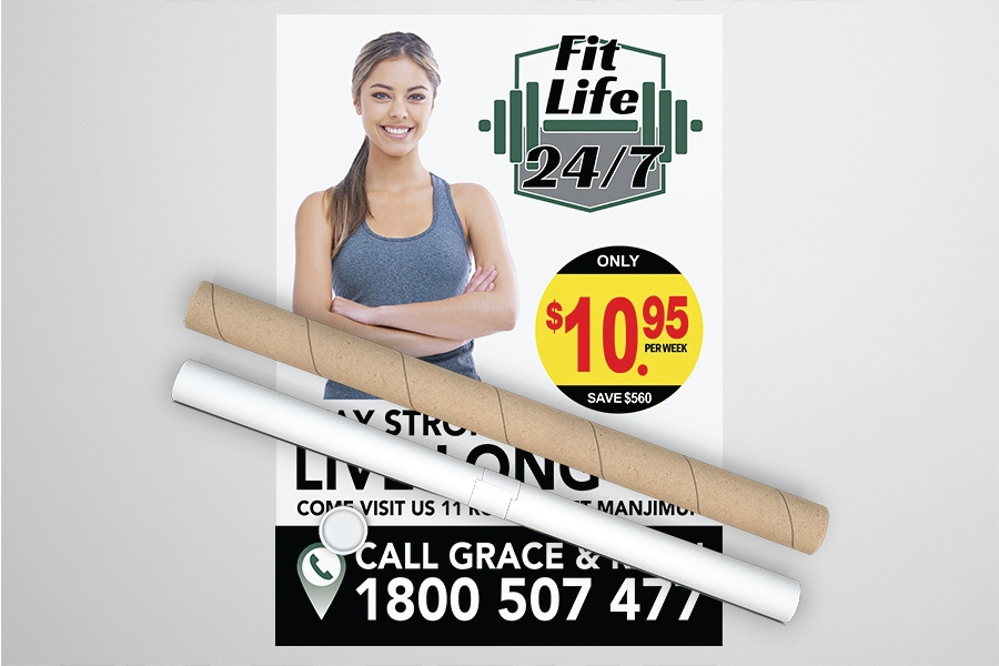 Full Colour Digital Print Posters for Fitness Signage