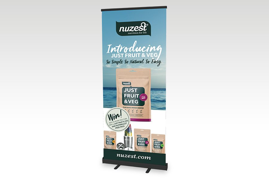 Premium Pull Up Banner - 850mm W x 2000mm H