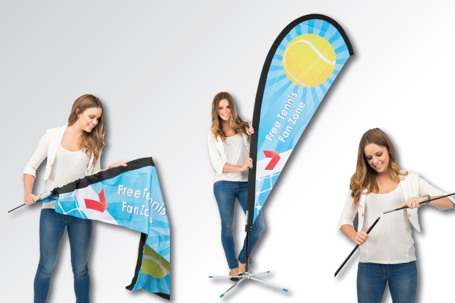 Installation and Care Instructions for Teardrop Banners