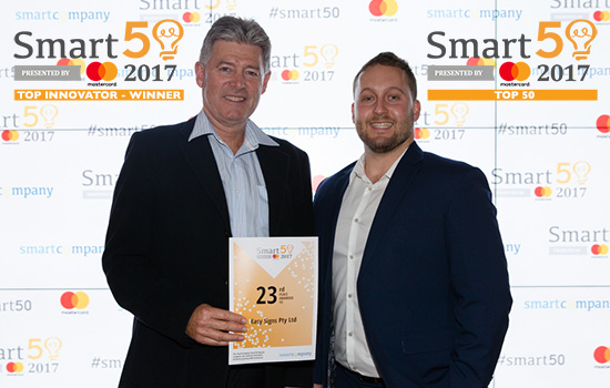 Easy Signs wins the SmartCompany Top Innovator Award & Named 23rd Fastest Growing SME in Australia!