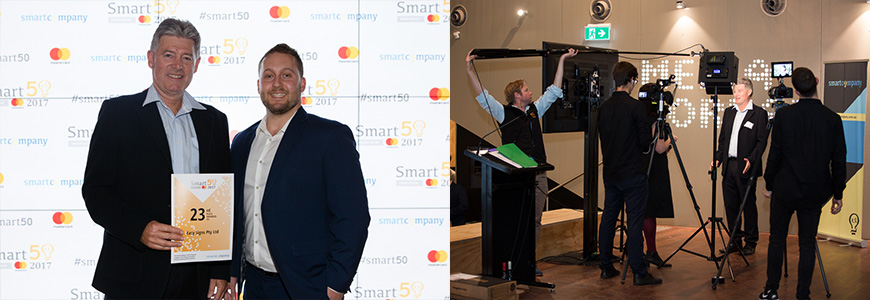 Easy Signs at the Smart50 Awards 2017