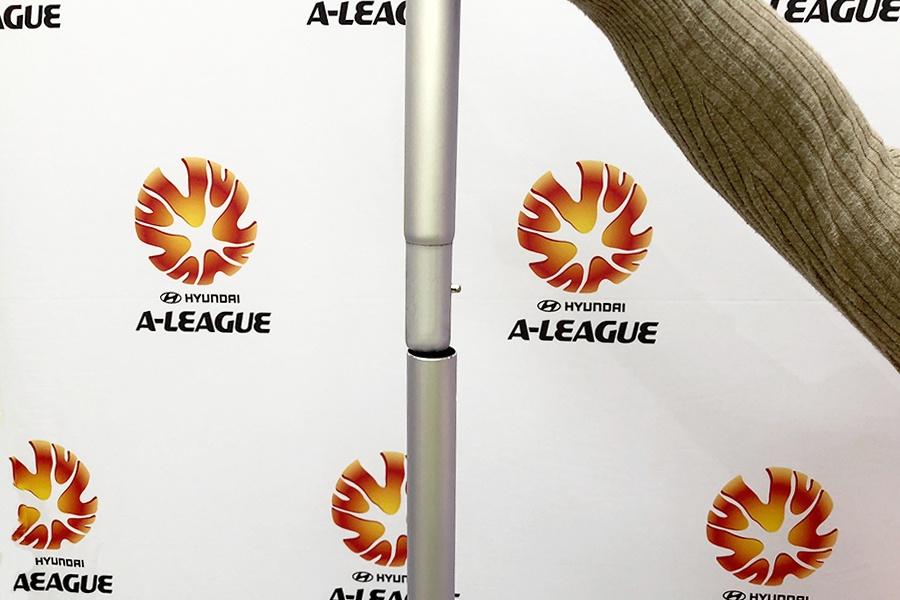Stretch Fabric Media Wall Poles